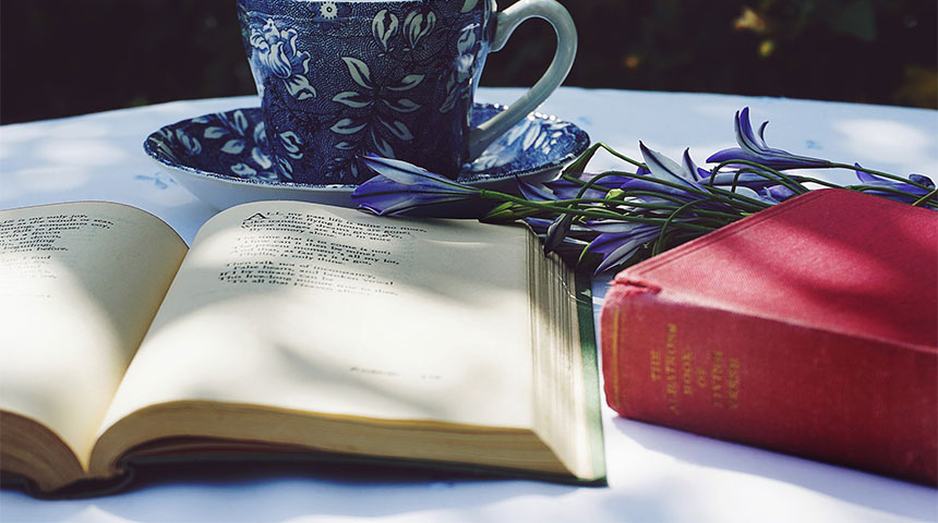 book and cup - Home